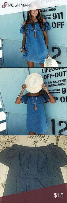 NEW off the shoulder Dress NEW off the shoulder denim short mini dress indigo blue. & Other Stories Dresses Midi