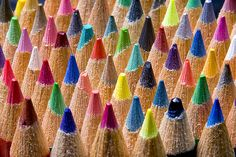 Pencil Forest by Jeff Burton Micro Photography, Pattern Photography, Texture Photography, Still Life Photography, Abstract Photography, Creative Photography, Jeff Burton, Rainbow Aesthetic, Coloured Pencils