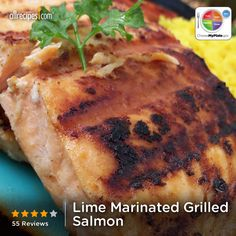 Lime-Marinated Grilled Salmon from Allrecipes.com #myplate #allrecipes #protein