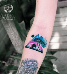triangular-glyph-tattoo-38 - 35 Cute Triangle Glyph Tattoos