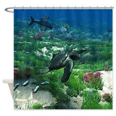 new at @CafePress : #Archelon #Shower #Curtain Archelon was a #giant #sea #turtle from the #Cretaceous period, so far the biggest of ist kind. It was 4 meters long, and about 4.87 meters wide. #dinosaur  $45.99