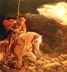 "Pre-Raphaelite Painting: ""Sir Galahad,"" by Arthur Hughes. #Pre-Raphaelite."