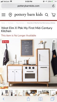 Diy Play Kitchen, Pottery Barn Kids, Home Furniture, Mid Century, Home Decor, Decoration Home, Home Goods Furniture, Room Decor, Home Furnishings