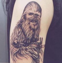 Wondering how to take your love for Star Wars to the next level? Well, some people get a Star Wars tattoo. Here's a photo gallery of fans' tattoos to use as inspiration. Star Wars Tattoo, Star Tattoos, Great Tattoos, Amazing Tattoos, Tatoos, Tattoos Gone Wrong, Obi One, At At Walker, Star Wars Luke Skywalker