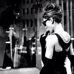Breakfast at Tiffany's. The woman who set the trend for the lbd & the classiest figure of  all time