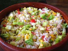 Varomeando: Ensalada de arroz con espárragos y atún