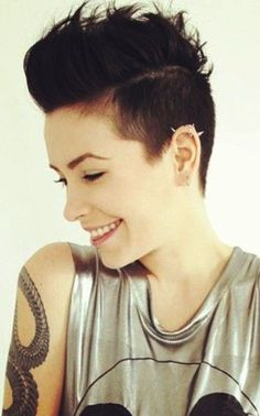 Short Long Hair Mohawk Women                                                                                                                                                                                 Más