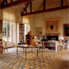 Amazing Savonnerie rug in Givenchy's home!