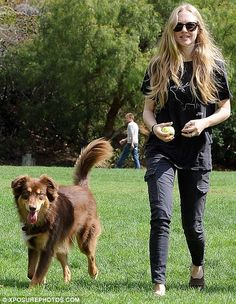 Amanda Seyfried and her dog