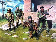 Fuerzas especiales rusas en Kosovo.