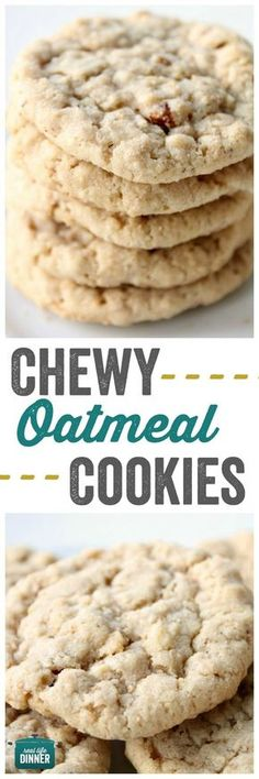 These Chewy Oatmeal Cookies might look innocent, but they will ROCK YOUR WORLD. Awesome for lunches and after-school snacks. ~ http://reallifedinner.com