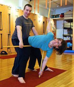 supta akunchasana varitaion  iyengar yoga supine poses