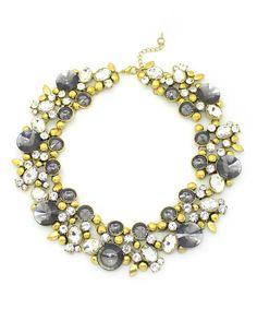 Eye Candy LA Goldtone & Gray Clementine Necklace   zulily