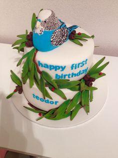 Budgie birthday cake