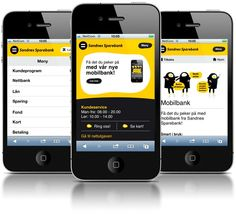 "Get your bank on your mobile    On 15 June 2011, Sandnes Sparebank launched its new mobile bank. Simple and easily recognisable. ""Get what you point at"", was the message being sent through all the channels. The launch was two-fold, as it was initially aimed at existing customers."