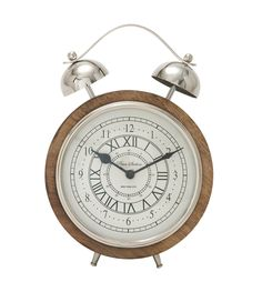 Outstanding wood stainless steel table clock