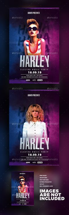Electro Squad Music Party Flyer  — PSD Template #flyer #guest dj • Download ➝ https://graphicriver.net/item/electro-squad-music-party-flyer/18358695?ref=pxcr