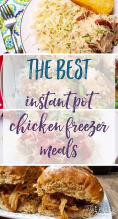 Lets face it. Our time is valuable as a homemaker. So we need to find ways to save time. These delicious instant pot Chicken Freezer meals will do just that! via @AFHomemaker