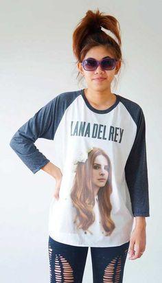 S M L Lana Del Rey Shirts Alternative Rock Shirts by cottonclick    cute shirt