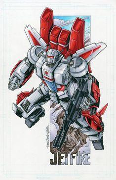 Jetfire. Art by Alex Milne.. #Transformers #Autobots #Decepticons