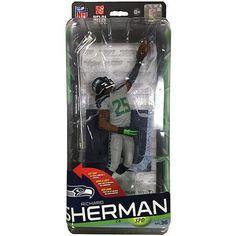 "McFarlane NFL Sportspicks Richard Sherman 6"" Action Figure (Series 36, Bronze Variant) | ToyZoo.com"