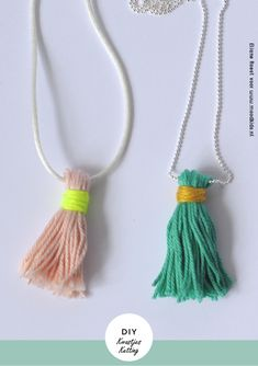 diy, make your own necklace with kids