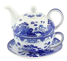 Tea For One - Blue Willow Oriental Collection. Fine China... https://www.amazon.co.uk/dp/B01LL9XJRO/ref=cm_sw_r_pi_dp_x_UjFmyb27CH7V0