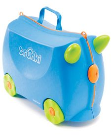 Trunki Children's Ride-On Suitcase & Kid's Hand Luggage: Terrance (Blue) Christmas Gifts For Kids, Kids Gifts, Baby Gifts, Kids Luggage, Modern Toys, Baby Co, Little Boy And Girl, Kids Sunglasses, Bowling Bags