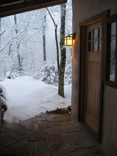 Snow At The Front Porch