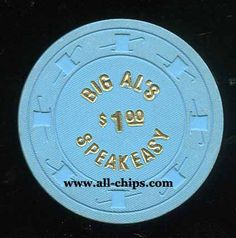 #LasVegasCasinoChip of the Day is a $1 Big Al's Speakeasy you can get here https://www.all-chips.com/ChipDetail.php?ChipID=19346 #CasinoChip #LasVegas