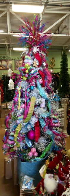 Purple blue silver and pink christmas tree christmas - Pink and blue christmas tree ...