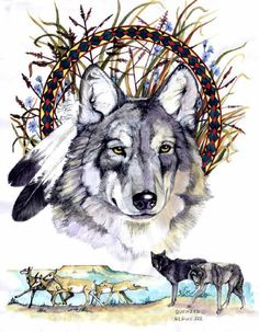 Wolf Circle Of Life Native American Artwork By Marcine Quenzer Tattoo ...