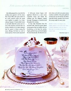 Ever After - Setting The Royal Table - Menu Tips, and more.