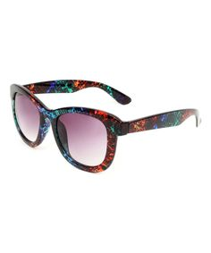 Black Splatter Retro Sunglasses