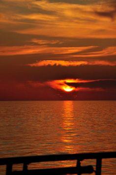 Italian sunset. Beautiful to see