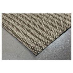 Grey Stripe Tufted Round Area Rug - (5'x8') - Liora Manne, Gray