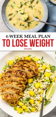 Reach your weight-loss goals with this meal plan designed to fill you up low-calorie, high-protein breakfast, lunch, and dinner options. Best Picture For daily Meal Planning For Your Taste You Weight Loss Meals, Best Diet Plan For Weight Loss, Meal Plans To Lose Weight, Best Weight Loss Foods, Weight Loss Workout Plan, Ways To Lose Weight, Low Calorie Meal Plans, Low Calorie Lunches, Diet Meal Plans