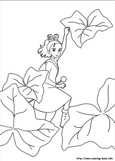 Coloriage ponyo et sosuko coloriage pinterest for Ponyo coloring pages to print
