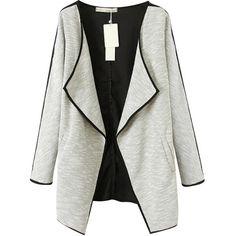 Chicnova Fashion Wide-lapel Split Coat (3.040 RUB) ❤ liked on Polyvore featuring outerwear, coats, jackets and chicnova