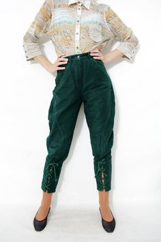 a490a7d5859e14 Vintage pants / green Benetton highlands riding pants / by nemres, $62.00  Riding Pants,