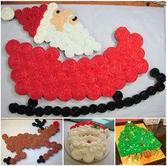 Christmas Pull Apart Cupcake Cakes