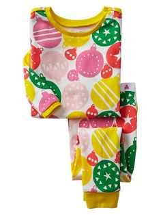 christmas PJs! // bright ornament pajama set