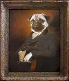 DAVID IMLAY: Sir Henry Pug. hilarious body of dog portraits that reference Flemish and Dutch Golden Age painting
