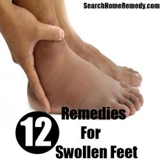 Home Remedies For Swollen Feet~ You can soak feet in warm water containing vinegar to treat on a daily basis or wrap feet in a towel soaked in warm water and vinegar to reduce swelling.