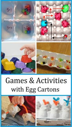 Recycle that egg carton into a fun kids game or STEM activity that will keep them engaged and learning. #STEMactivities #eggcarton #gamesforkids Kids Party Games, Fun Activities For Kids, Easy Crafts For Kids, Stem Activities, Kid Crafts, Crafts To Make, Crab Crafts, Bunny Crafts, Preschool Games
