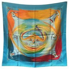 RARE Hermes Smiles in the Third Millenary Silk Scarf