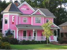 Pink Cottage Victorian Home