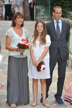Carolina de Mónaco y dos de sus hijos en el tradicional picnic de Mónaco