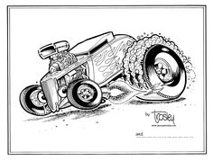 Rat Rod Cars Coloring Pages | coloring | Pinterest | Rats, Cars and ...