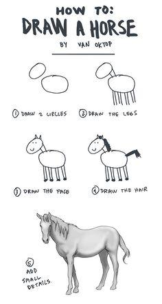 HOW TO DRAW AN HORSE  Chi aveva detto che il cavallo è una delle cose più difficili da disegnare?? By Oktop.